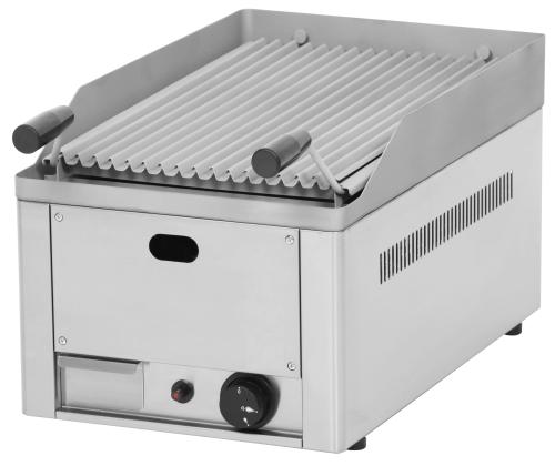 gas grill mit lavasteinen 330 x 540 mm 1 x 6 5 kw gastro. Black Bedroom Furniture Sets. Home Design Ideas