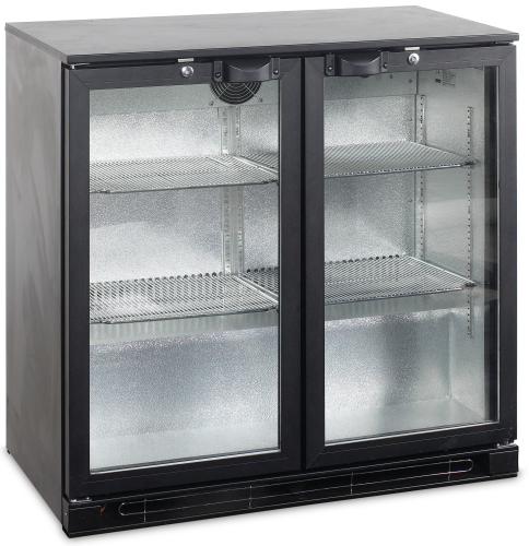 Bar Kühlschrank mit 2 Glastüren - BA25H-GC - Gastro-Ausverkauf.de